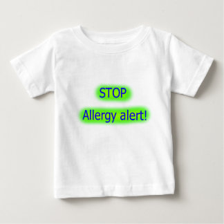 Stop allergy alert childs tshirt