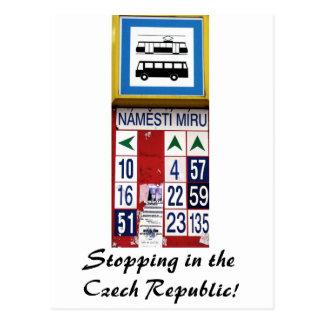 Stop and Czech! Postcard