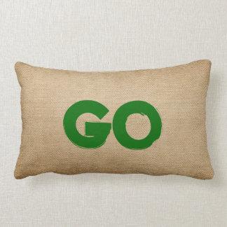 Stop and Go Burlap Lumbar Cushion