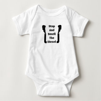 Stop And Smell The Diesel Baby Bodysuit
