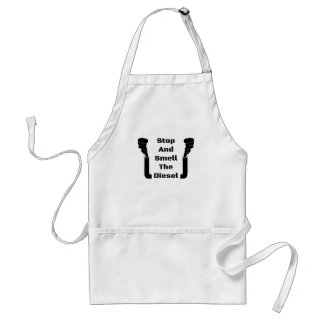 Stop And Smell The Diesel Standard Apron