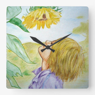 Stop and Smell the Flowers Wall Clock