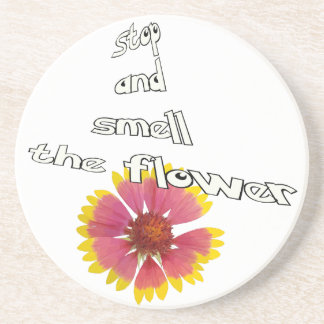 stop and smell to flower coaster