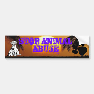 STOP ANIMAL ABUSE bumber sticker