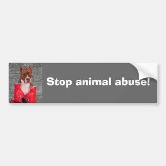 Stop animal abuse! bumper sticker