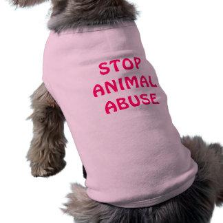 STOP ANIMAL ABUSE PET CLOTHING