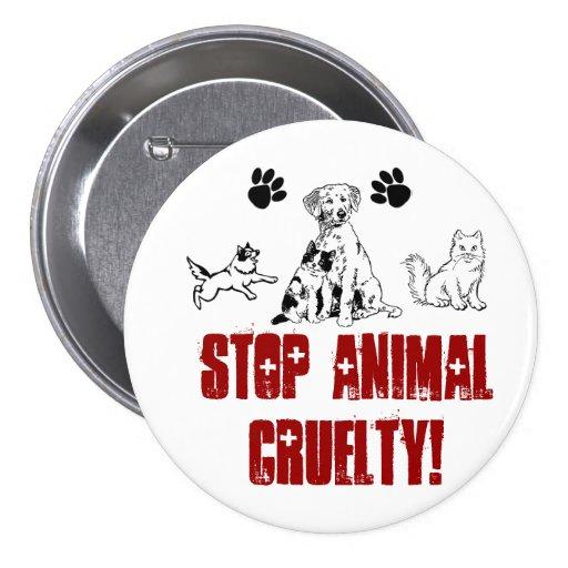 STOP ANIMAL CRUELTY! pin