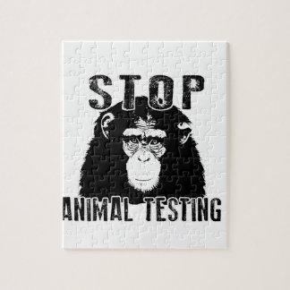 Stop Animal Testing - Chimpanzee Jigsaw Puzzle