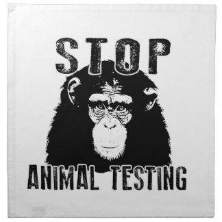 Stop Animal Testing - Chimpanzee Napkin