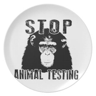 Stop Animal Testing - Chimpanzee Plate