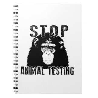 Stop Animal Testing - Chimpanzee Spiral Notebook
