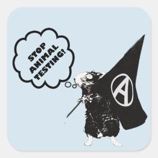Stop Animal Testing Square Sticker