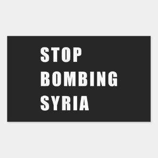 Stop Bombing Syria Rectangular Sticker