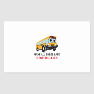 STOP BULLIES RECTANGULAR STICKER