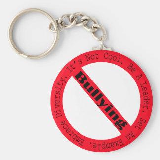 Stop Bullying-Logo by Shirley Taylor Key Ring