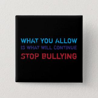 Stop Bullying No Bullying Against Bullying 15 Cm Square Badge