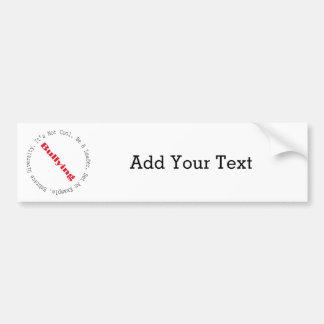 Stop Bullying-Outline Bumper Sticker