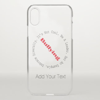 Stop Bullying-Outline by Shirley Taylor iPhone X Case