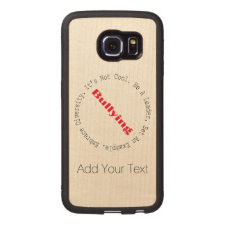 Stop Bullying-Outline by Shirley Taylor Wood Phone Case