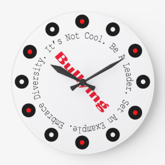 Stop Bullying-Outline Wall Clock