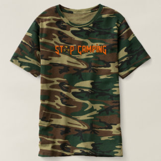 Stop Camping You Noob v4 Camo T-Shirt