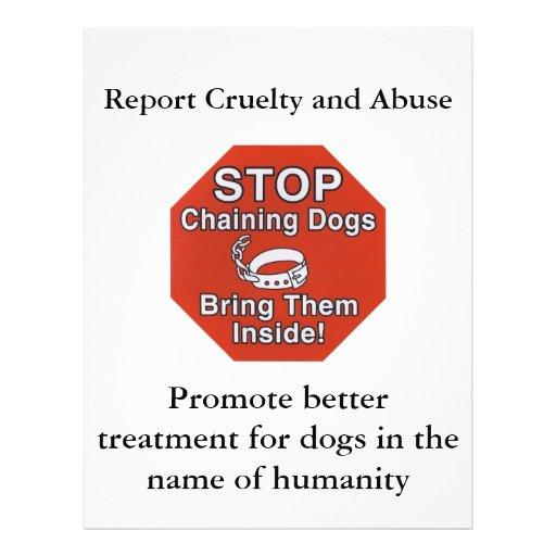 STOP Chaining, Bring Dogs Inside, Speak Up Against Full Color Flyer