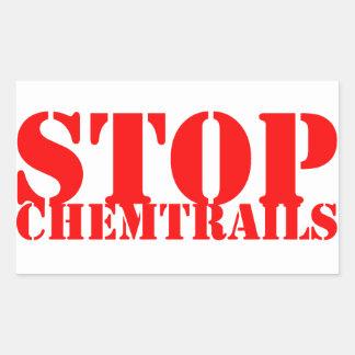 Stop Chemtrails - Adhesive Rectangular Rectangular Sticker