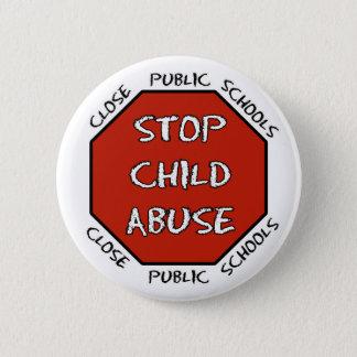 Stop Child Abuse 6 Cm Round Badge