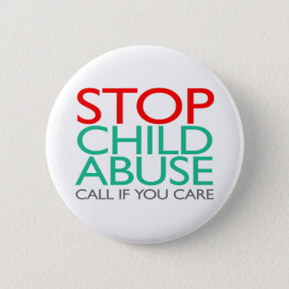 Stop Child Abuse 6 Cm Round Badge