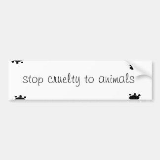 Stop Cruelty to Animals Bumper Sticker