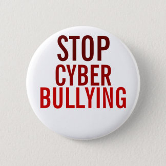 STOP Cyber Bullying 6 Cm Round Badge