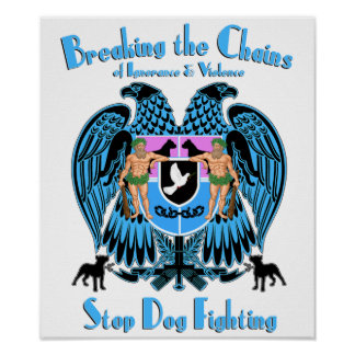 Stop Dog Fighting, American Pit Bull Terrier Dog Poster