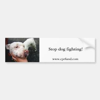 Stop dog fighting! bumper sticker car bumper sticker