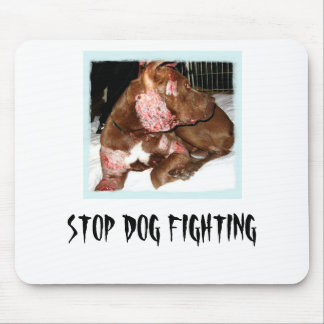 Stop dog fighting mouse pad
