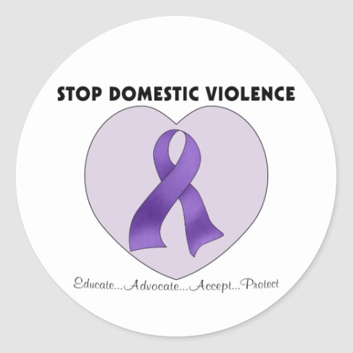 Stop Domestic Violence Sticker
