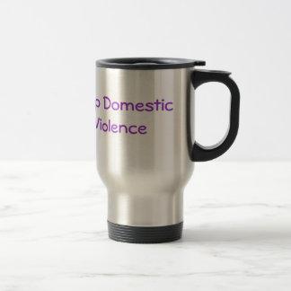 Stop Domestic Violence travel mug
