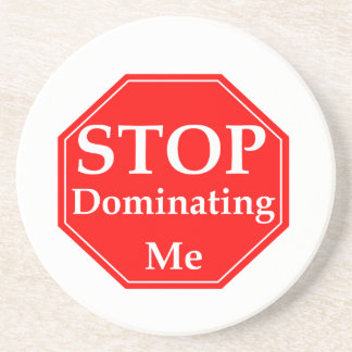 Stop Domination Beverage Coasters