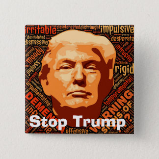 Stop Donald Trump 15 Cm Square Badge