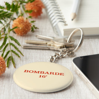 Stop! Don't forget your keys. Basic Round Button Key Ring