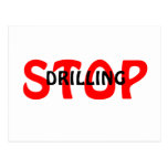 STOP, DRILLING POSTCARD