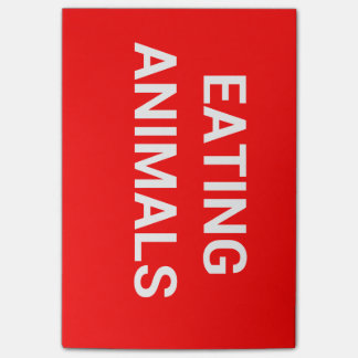 STOP EATING ANIMALS POST-IT® NOTES