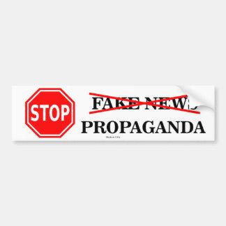Stop Fake News Bumper Sticker