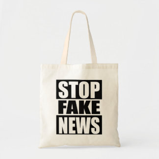 Stop Fake News Tote Bag