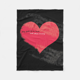 stop falling in love Small Fleece Blanket