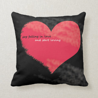 stop falling in love Square Pillow