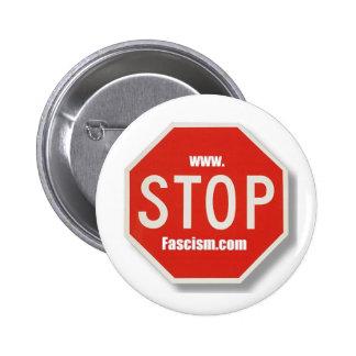 Stop Fascism stop sign Button