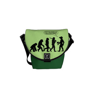 Stop following me, I'm a Creationist! Messenger Bag
