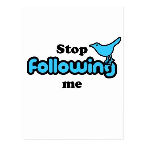 Stop following me postcard