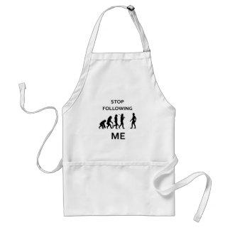 stop following me standard apron