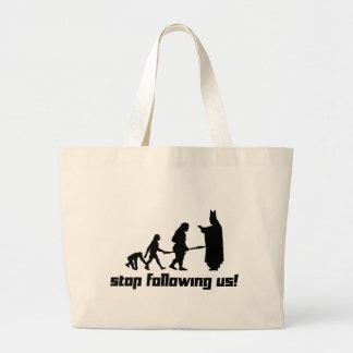 Stop following us! jumbo tote bag